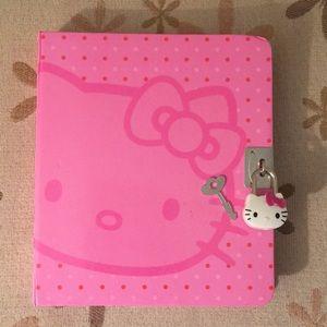 Sanrio Hello Kitty Lock Journal with Key